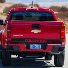 Load image into Gallery viewer, Chevrolet Colorado rear tailgate lower stripe decal kit decal kit.