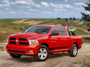 Dodge ram 1500 2500 3500 door stripe decal kits.