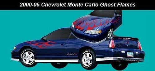 2000 chevy monty carlo flame decal kit. Many colors available.