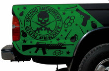 Load image into Gallery viewer, All year make model truck bed corners decal set. Many colors available.