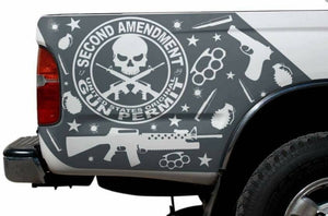 All year make model truck bed corners decal set. Many colors available.