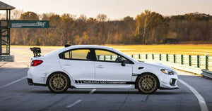 Subaru wrx sti side rocker decal set kits available in many colors.