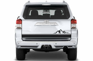 Toyota 4 runner tailgate  decal montain decal & stripe kits.