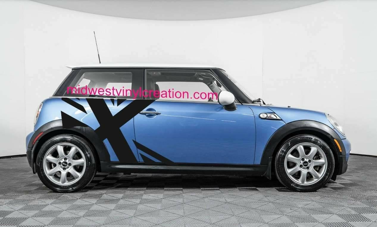 Mini Cooper Colors >> Mini Cooper Side Flag Decal Kit For All Models And All Colors