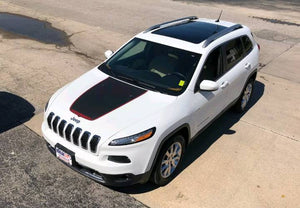 2014-2019 jeep cherokee trailhawk hood decal kits.