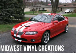 Pontiac gto g6 g8 gt stripe kit many colors available