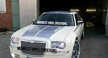 Load image into Gallery viewer, Chrysler 300 c m srt hemi hood stripe decal kit. Many colors available