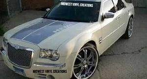 Chrysler 300 c m srt hemi hood stripe decal kit. Many colors available
