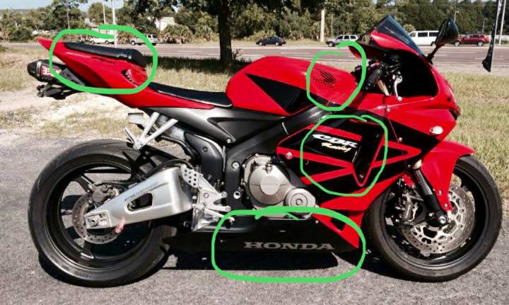All years honda cbr decal kit for both sides