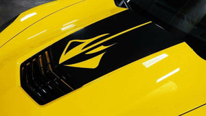 Chevy corvette stingray hood blkout decal kit. Many colors available
