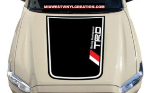 Toyota tacoma hood TRD 3 color blkout decal kits