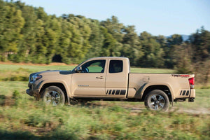 Toyota tacoma retro side stripe decal kit + trk bed trd 4x4 sport 2 color decal combo kits .