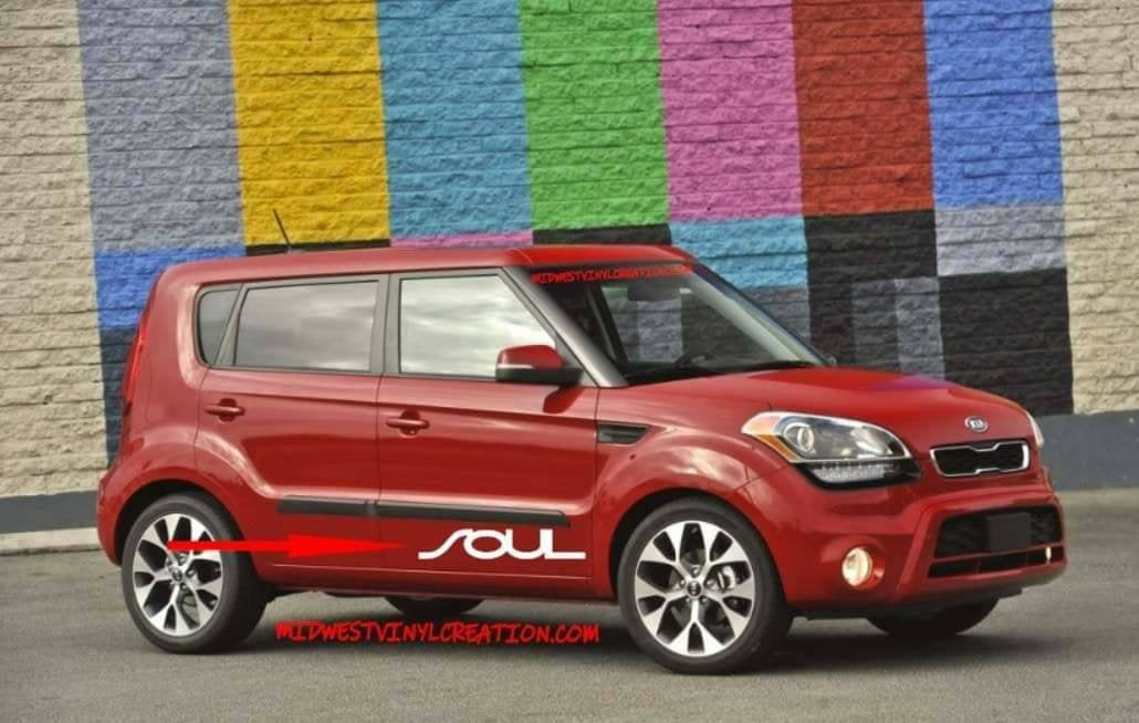 Kia soul lower door decal kit many colors available.