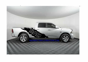 Dodge ram 1500 2500 3500 side ripped decal set.