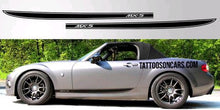 Load image into Gallery viewer, Mazda Miata rocker side decal set plus free gift