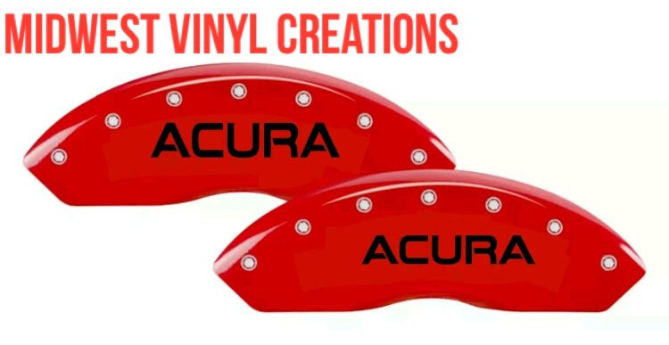 Acura caliper Decal set of 4 plus free gift