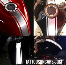Load image into Gallery viewer, Universal motorcycle racing stripe gas tank decal sticker set plus free gift