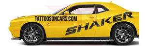 Dodge Challenger shaker large side decal set plus free gift