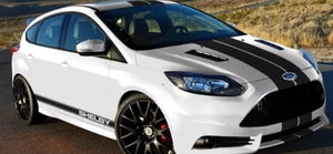 Ford Focus svt shelby Side Stripe Decal set plus racing stripe set