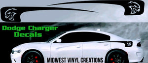 Dodge Charger hellcat rear panel stripe decal sticker set plus free gift
