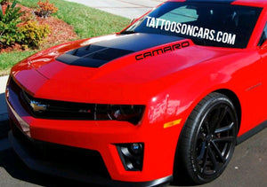 Chevy camaro hood badges decal set