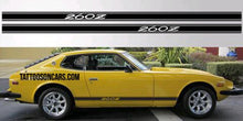Load image into Gallery viewer, Mazda 240z 260z 280z lower rocker side decal set plus free gift
