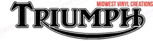 Triumph motorcycle gas tank decal set plus free gift