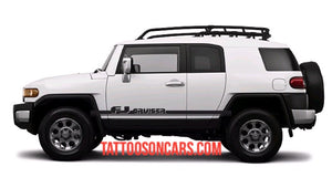 Toyota FJ Cruiser lower Side Decal Kit for all year Cruisers