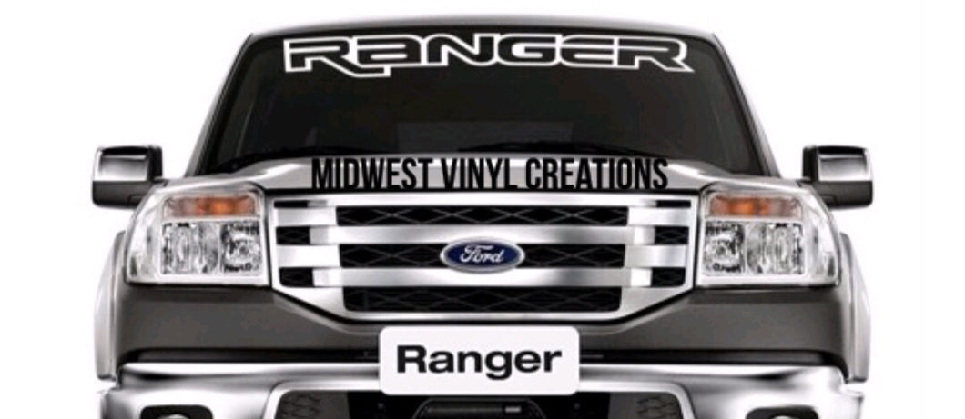 Ford ranger windshield banner decal sticker plus free gift