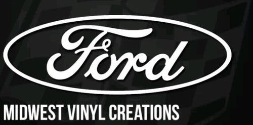 "22"" Ford logo large window decal vinyl sticker plus free gift"