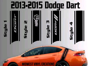 2010-2019 Dodge Dart rear panel decal set (pair) plus free gift