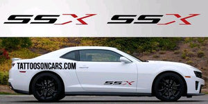 Chevy camaro ssx lower Side Decal set plus free gift