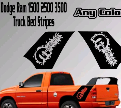 1950-2019 Dodge Ram 1500 2500 3500 truck bed graphics vinyl decal sticker set plus free gift