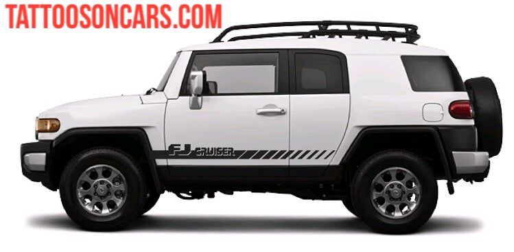 Toyota FJ Cruiser lower Side Stripe Decal Kit all year Cruiser