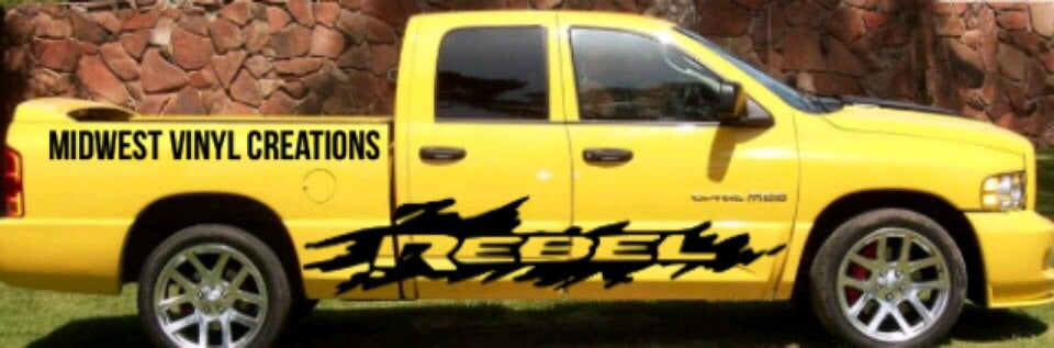 Dodge Ram truck rebel side decal set plus free gift