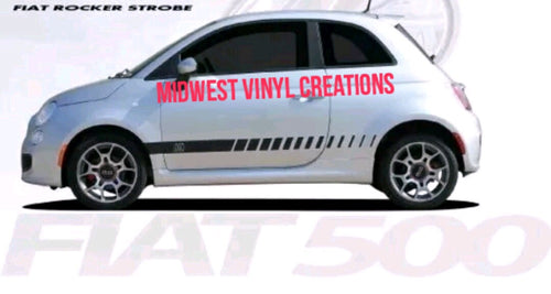 Fiat strobe rocker stripe decal sticker set plus free gift