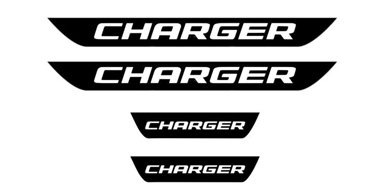 Dodge Charger door sill decal set