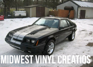 79-93 fox body mustang gt lx Racing Stripe Decal set plus free gift