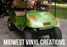 Load image into Gallery viewer, Golf cart clubman ezgo flame decal set