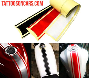 Universal motorcycle racing stripe gas tank decal sticker set plus free gift