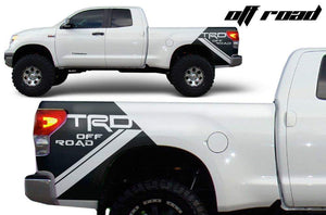 Toyota tundra truck bed trd off road decal set kit