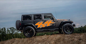 Jeep jk side 4x4 2 color combo decal set kit. Many color combos available