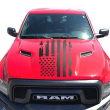 Load image into Gallery viewer, Distressed flag hood decal for all truck models and years.many colors available