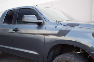 Toyota tacoma tundra trd hockey stick style front fender decal set kit