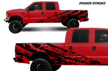 Load image into Gallery viewer, Ford f250 f350 powerstroke ripped side body decal set