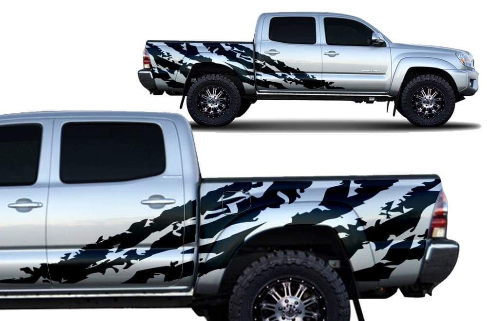 Toyota tacoma side shreader decal set kit all years tacoma