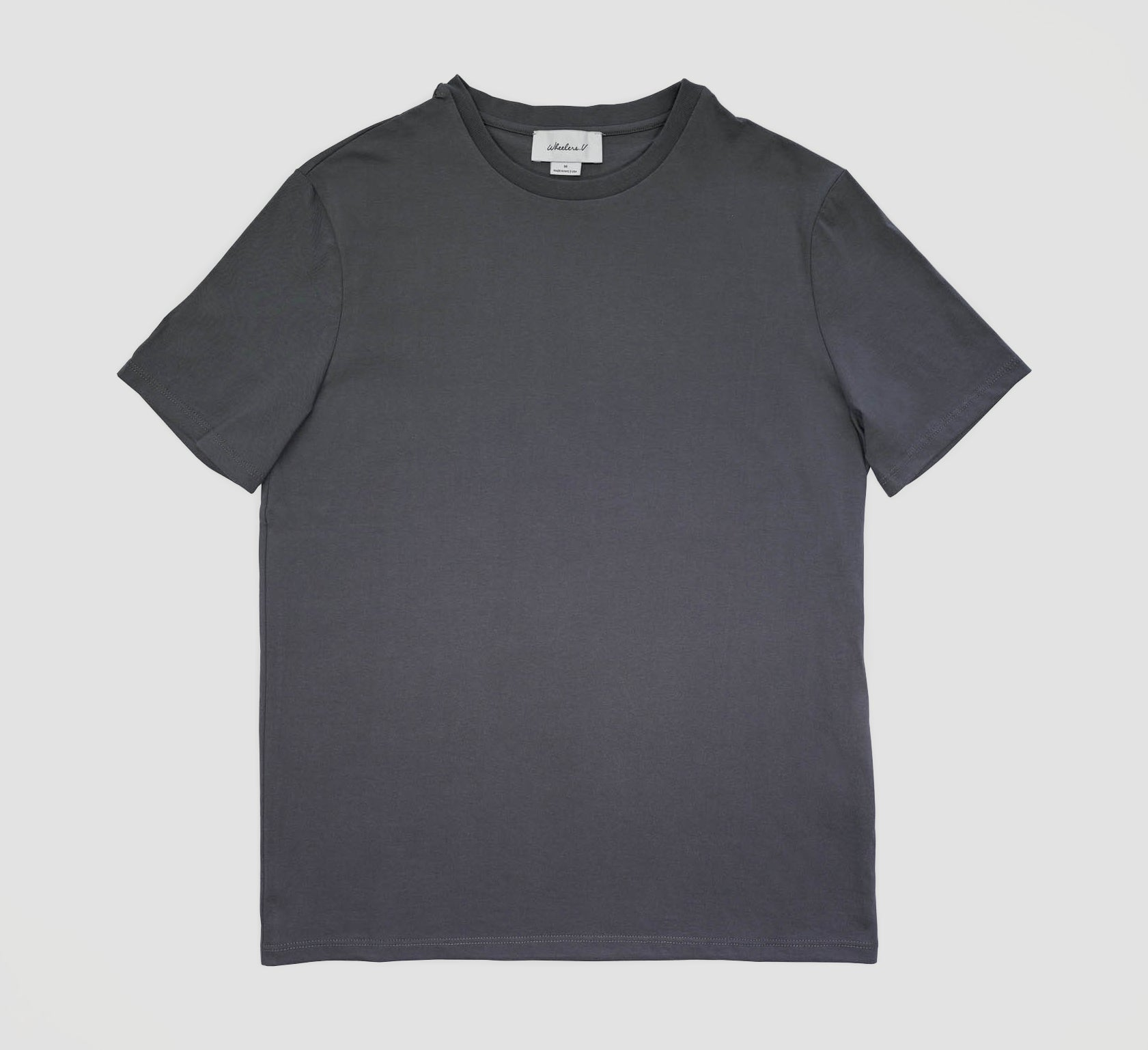 WHEELERS BASIC TEE -  Ash