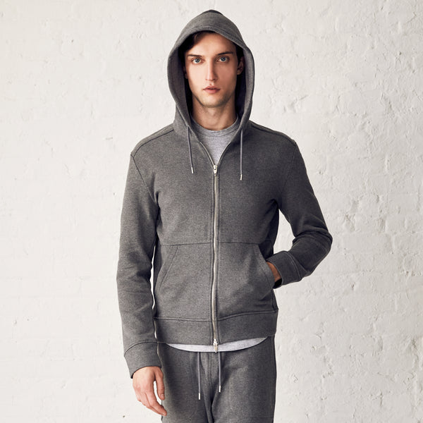 BEAMAN FULL ZIP---Grey Mleng