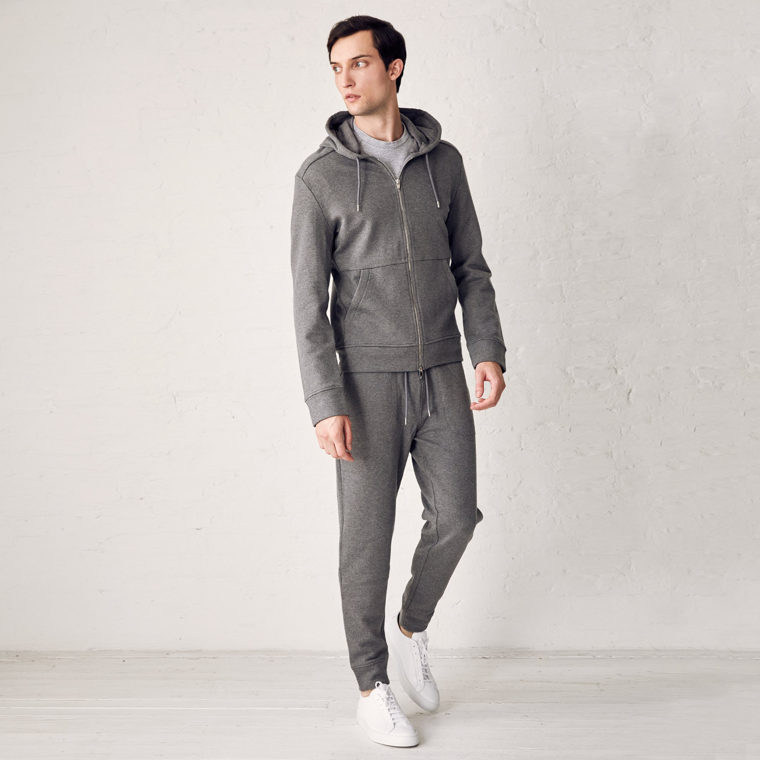 BEAMAN FULL ZIP - Grey Melange