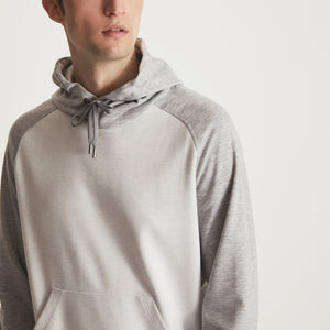 GARROS HOOD PULLOVER - Grey Heather / Off White